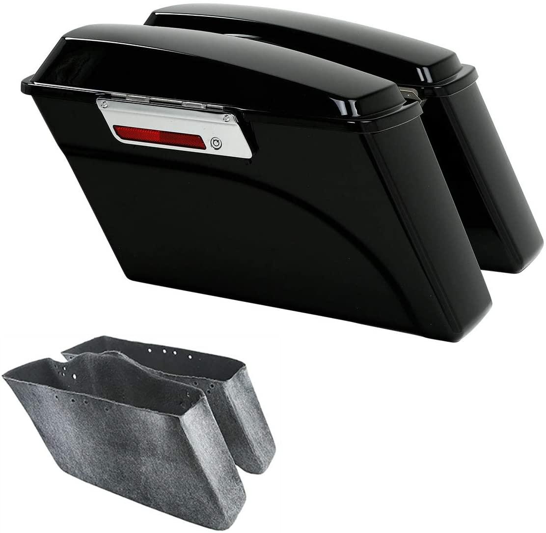 TCMT Hard Saddle bags Saddlebag Trunk + Lid Latch Keys Fits For Harley HD Touring Road King 1994 1995 1996 1997 1998 1999 2000 2001 2002 2003 2004 2005 2006 2007 2008 2009 2010 2012 2013