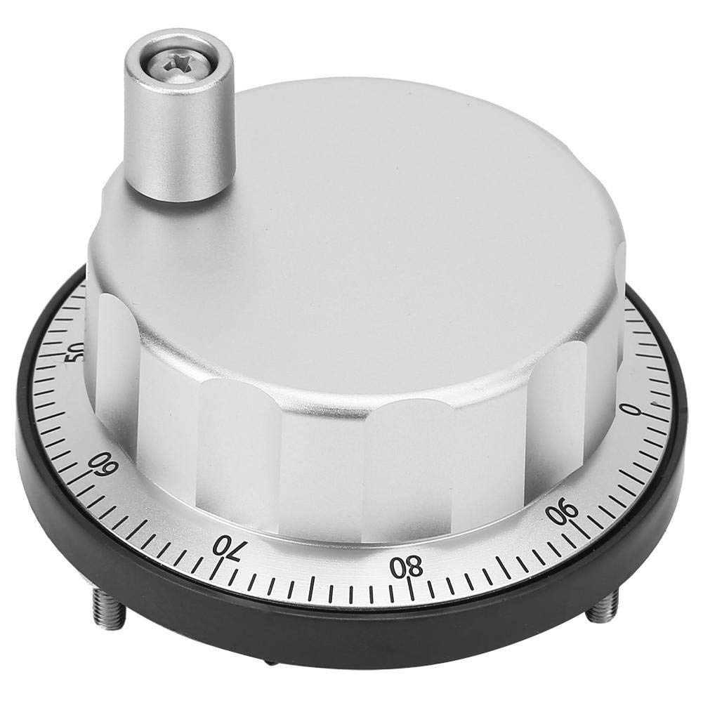 Electronic CNC Hand Wheel,Jadpes Universal Ultra-Thin 5V Driver Output Metal Pulse Hand Wheel 100 Manual Pulse Generator Optical Rotarys Encoder for CNC Machine Tools