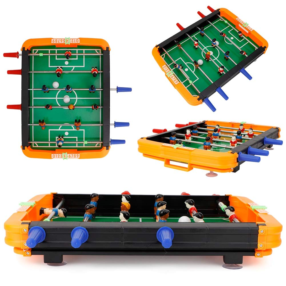 Foosball Tabletop Games and Accessories,Portable Game Foosball Balls Mini Foosball Board Table Soccer Accessories Kit for Game Rooms Arcades Bars Family Night