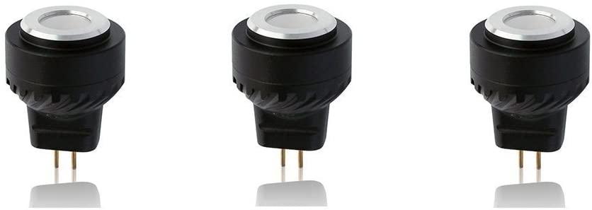 Arrownine 2.5Watt MR8 LED Bulb for Landscape Lighting Enclosed Fixtures Outdoor Lighting Kits Die-Cast Aluminum Heat Dissipation 12V AC/DC Low Volt Beam Angle 80° Soft Warm White 2700K Pack of 3