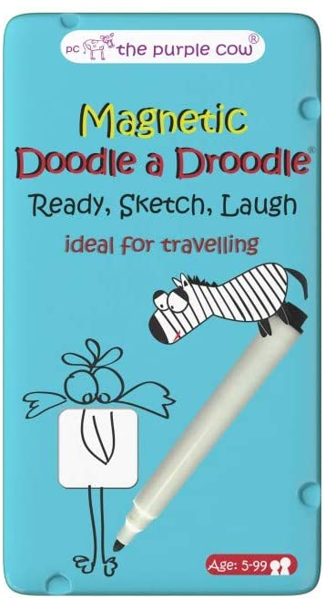 The Purple Cow- Droodle a Droodle Game- Magnetic Travel Game. Great for Travel and on-The-go. Get Ready, Sketch, Laugh! Perfect for Boys and Girls Activity.