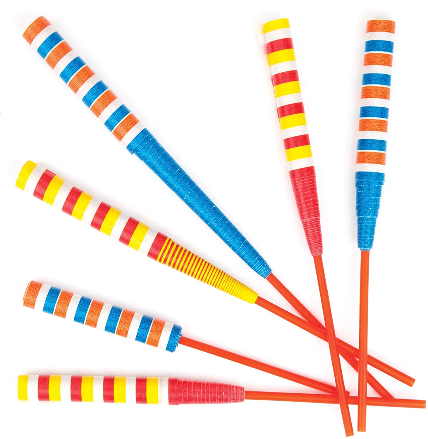 Baker Ross Paper Sword Flickers, Paper Wands for Kids Party Bag Fillers and Party Favors for Boys & Girls (Pack of 6)