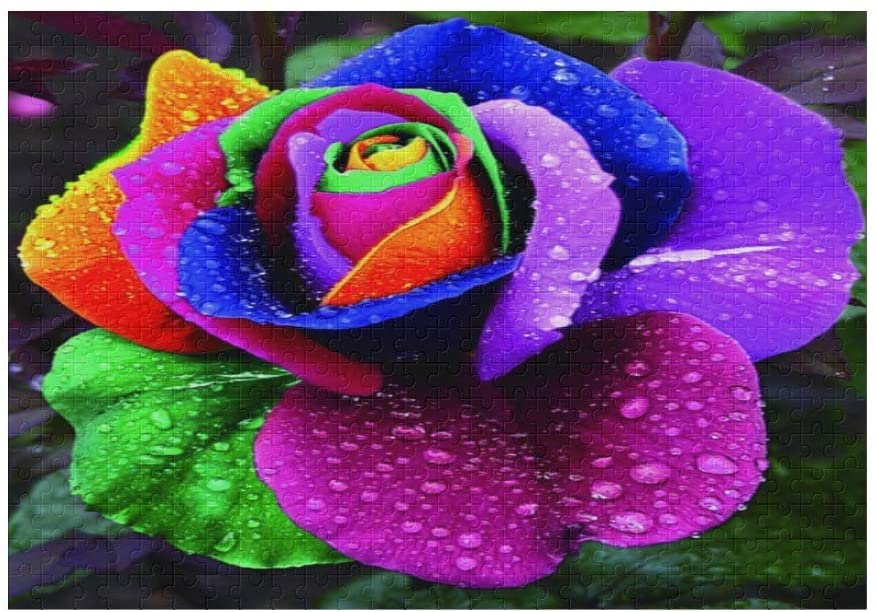 500 Pieces Jigsaw Puzzle Custom Funny Novelty Flowers of Many Colors DIY Toys for Adult Children Gift Home Decoration