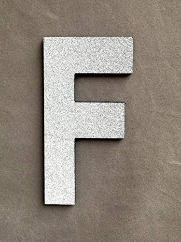 Jeash Foam Letters Uppercase English Alphabet Sticker Children's Bedroom Living Room Wall Stickers Wedding Birthday Party Home Decorations Kindergarten Nursery Home Stickers (Silver, F)