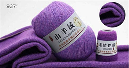 xinchenglove 2.47 Ounces / 4.93 Ounce Cashmere line Knitting Yarn 100% Cashmere Yarn Wool Medium-Thick Hand-Knitted Scarf line Wool Thread Accessory AQ062 (37,2.47 Ounce)