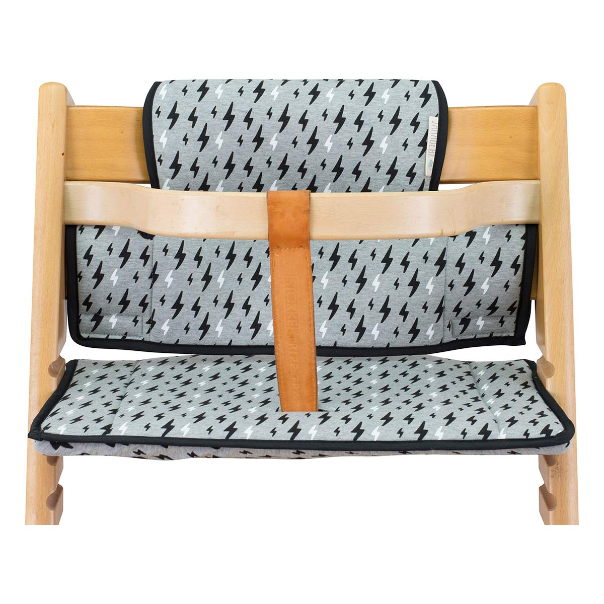 JANABEBE Cushion Compatible with Stokke Tripp Trapp high Chair (Black Rayo)