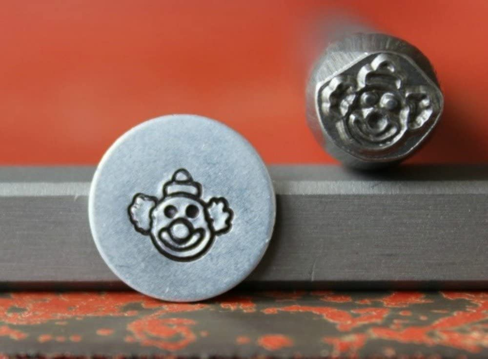 SUPPLY GUY 5-7mm Single Metal Punch Design Stamp: People, Baby & Faces, Made in USA (not a set) (CLOWN FACE 375-58)