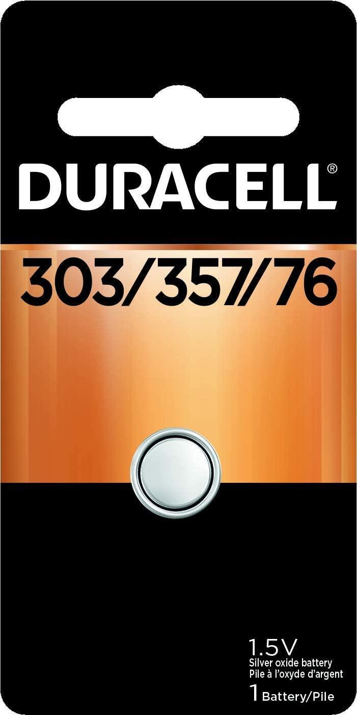 Duracell Silver Oxide Battery 1.5 Volt 303/357/76, 1 Each