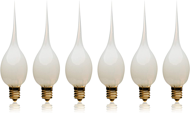 LightLady Studio, Candle Light Bulbs, Night Light Bulbs, Silicone Bulbs, 7 Watts, Pack of 6