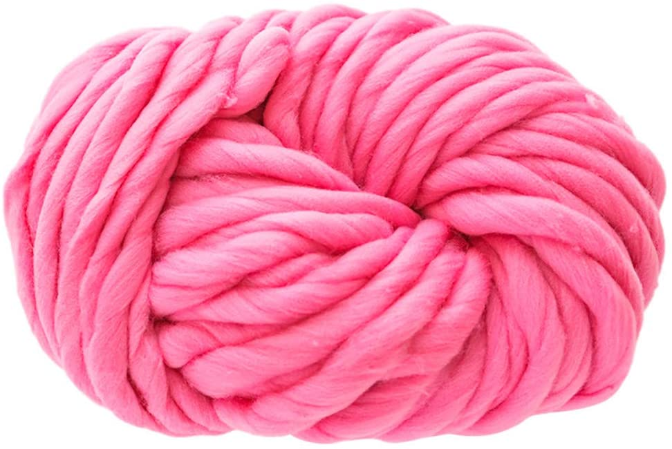 Beauty&favor Soft Chunky Wool Yarn Perfect for Knitting Scarf and Crochet Project (Pink)