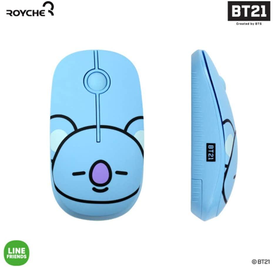BT21 Figure Wireless Silent Mouse by Royche (Blue(Koya))