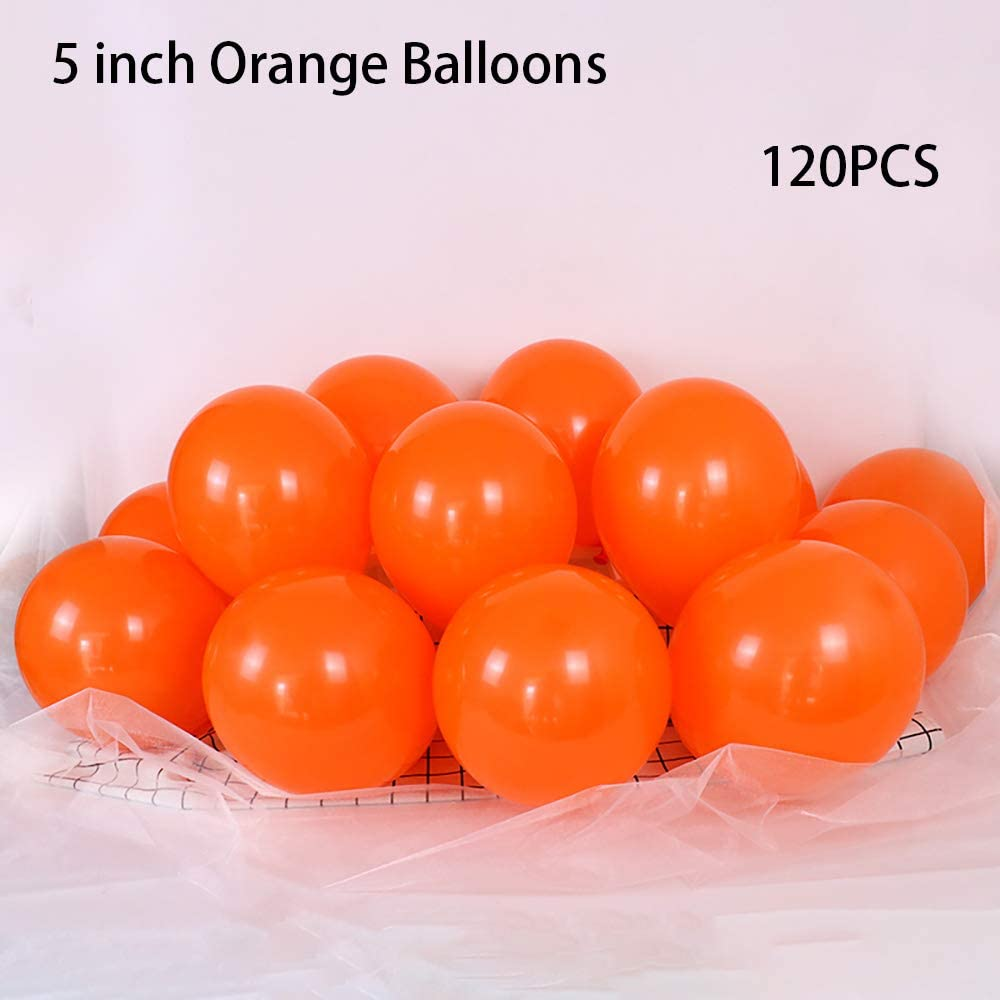 5 inch Orange Balloons Quality Small Orange Balloons Premium Latex Balloons Helium Balloons Party Decoration Supplies Balloons, Pack of 120
