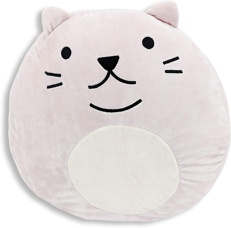 Adorable Large Stuffed Animal Plush Huggable Cat Pillow for Kids - Pink