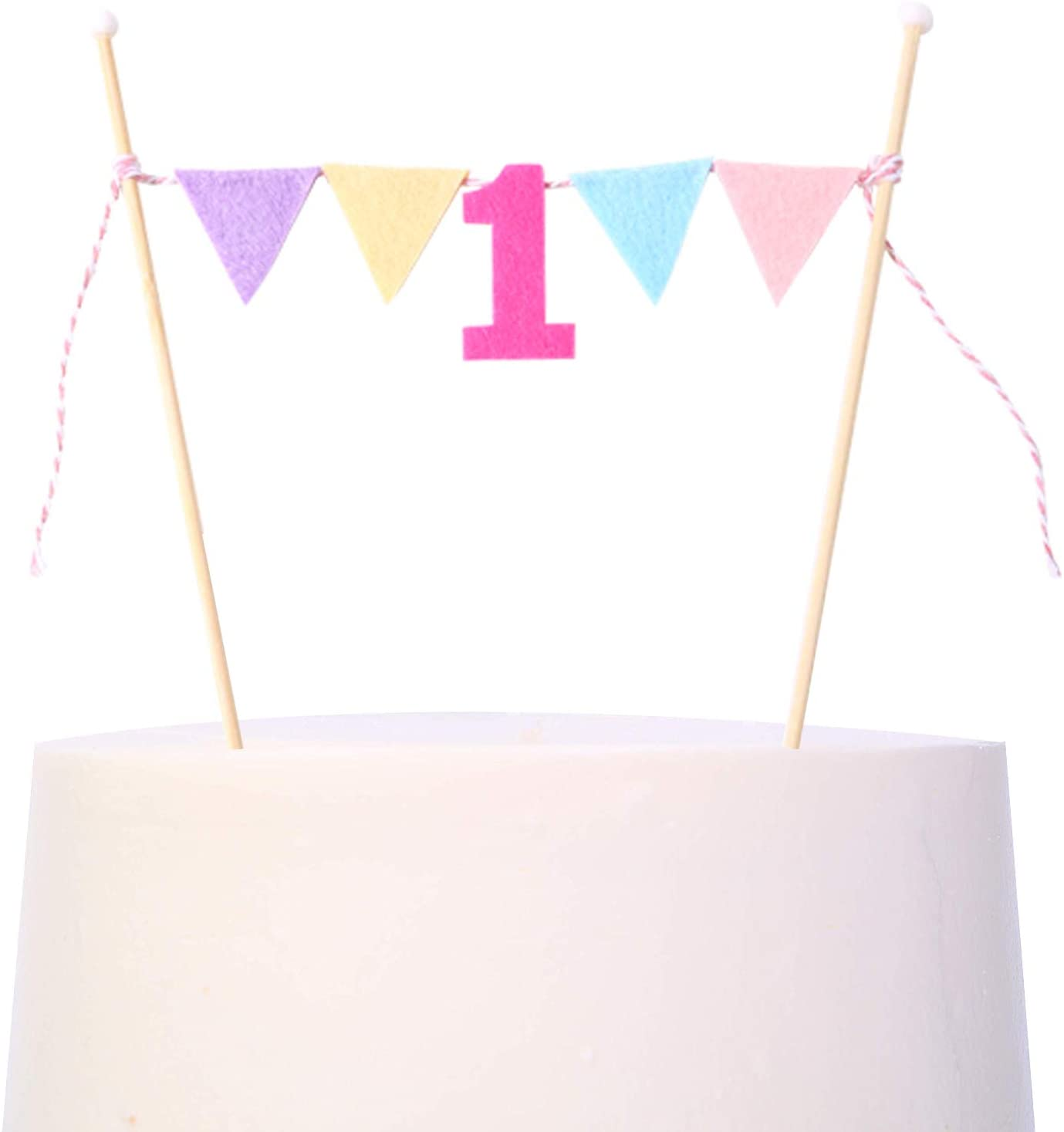 1st Birthday Cake Topper for Baby Kids - First Birthday Cake Decoration,Colorful Birthday Decorations for Photo Booth Props,Best Party Supplies for 1st Birthday