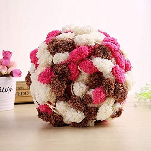 LY 3 Balls/lot 400g Thick Woolen Big Rainbow Pom Pom Yarn Soft Baby Cashmere Yarn Hand Knitting Crochet Yarn for DIY Cushion (1)