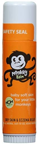 Monkey Balm All Natural Skin Care for Kids, Babies, and Adults   Helps Heal Eczema, Psoriasis, Dry and Cracked Skin, Bug Bites, Rashes, and Sunburns (0.6oz)