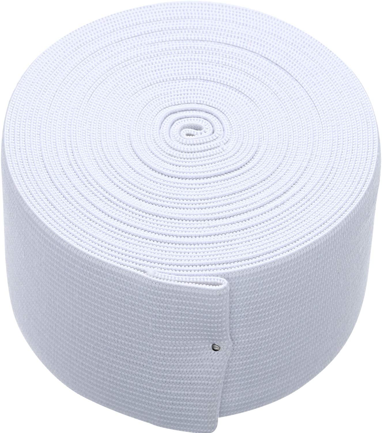 White Knit Elastic Spool (2 Inch x 5 Yard)