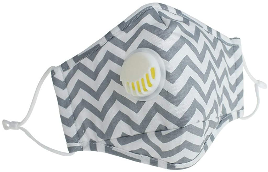 ZDG Washable Reusable Cotton Cover Half Face Mouth for with Adjustable Ear Loops