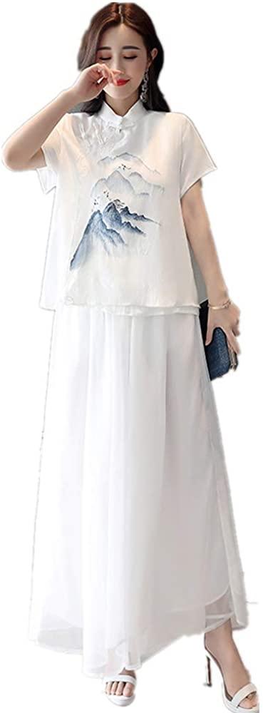 OPOB Women's Summer New Clothes Set,Tops (Loose T-Shirt Blouse) + Loose Pants