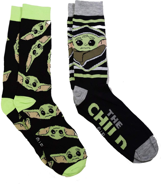 Star Wars The Mandalorian The Child Men's 2 Pack Crew Socks (Child)