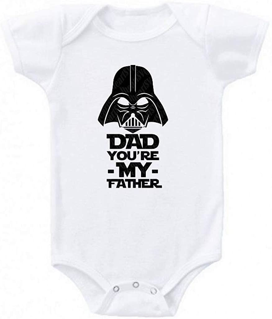 DAD You're My Father Star Wars Inspired Cute Love Babe Gift Babies Baby Bodysuit