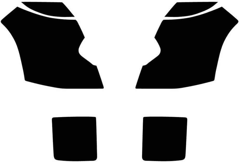 Rvinyl Rtint Headlight Tint Covers for Cadillac CTS 2003-2007 (Sedan) - Yellow Smoke