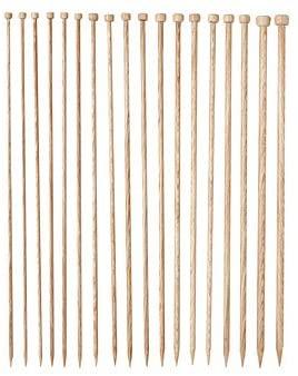 Knit Picks Straight Single Point Wood Knitting Needle Set US 4-11 (Sunstruck 14)