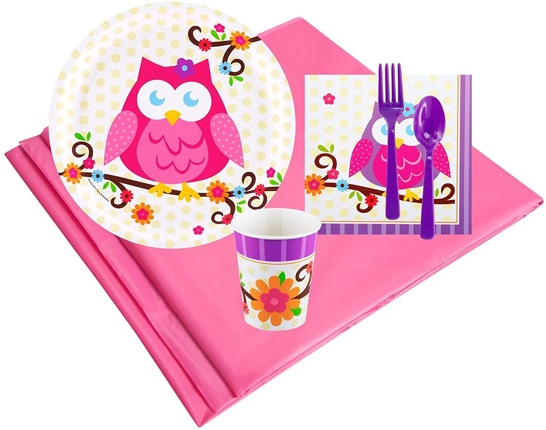 BirthdayExpress Owl Blossum 8 Guest Party Pack