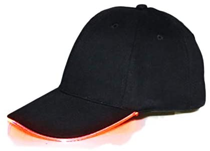 LED Light-up Baseball Cap Glow Party Hat for Halloween