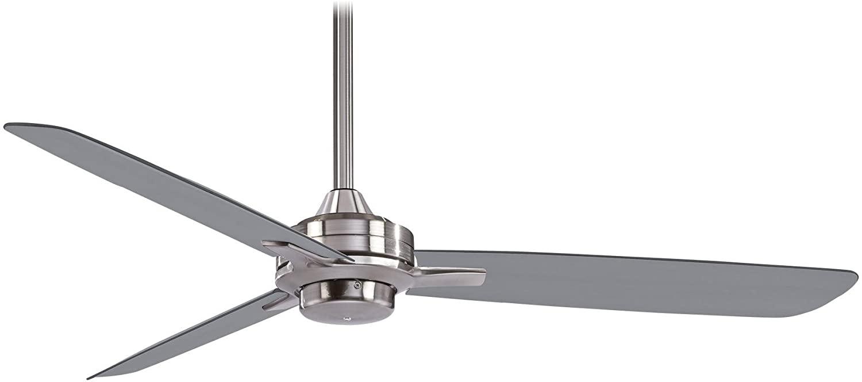 Minka Lavery F727-BN/SL Protruding Mount, 3 Silver Blades Ceiling fan, brushed nickel/silver