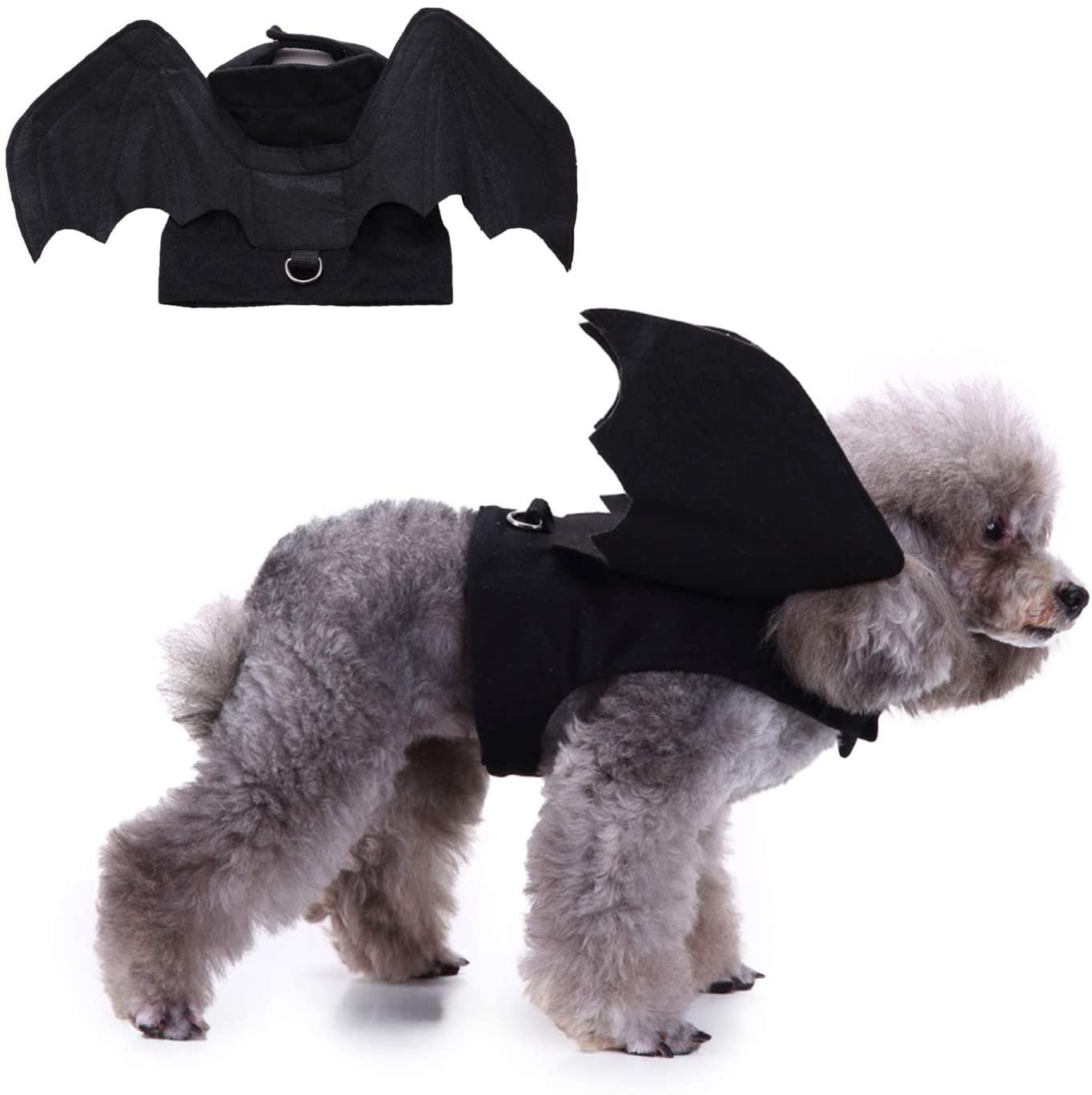 RYPET Pet Halloween Costume - Halloween Bat Wings Pet Costumes for Dogs Cats Halloween Party