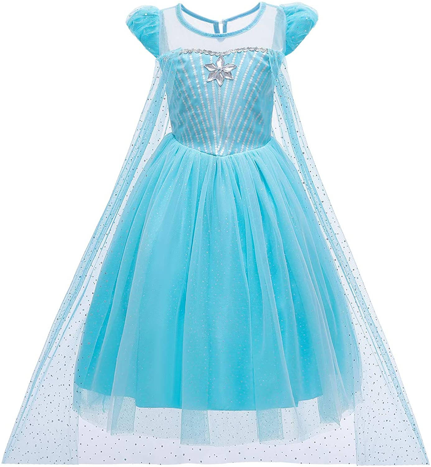 Tussclevogue Girls Princess Dress Costume- Snow Queen Party Birthday Dress Up for Toddler