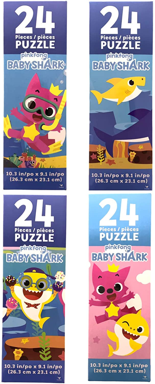 Baby Shark 4 Pack of 24 Piece Puzzles