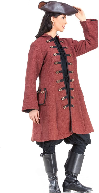 Captain Jacquotte Delahaye Pirate Renaissance Medieval Womens Costume Coat