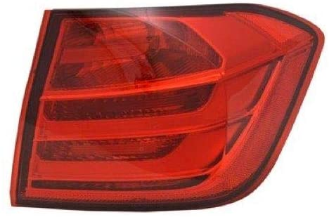 Go-Parts - for 2012 - 2015 BMW 328i Rear Tail Light Lamp Assembly / Lens / Cover - Right (Passenger) Side Outer - (F30 Body Code; Sedan) 63 21 7 313 040 BM2805104 Replacement 2013 2014