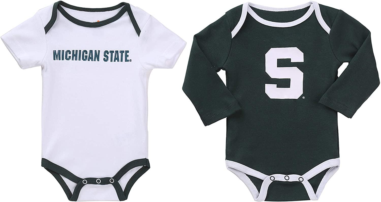 NCAA Michigan State Spartan 2 pcs Baby Bodysuits
