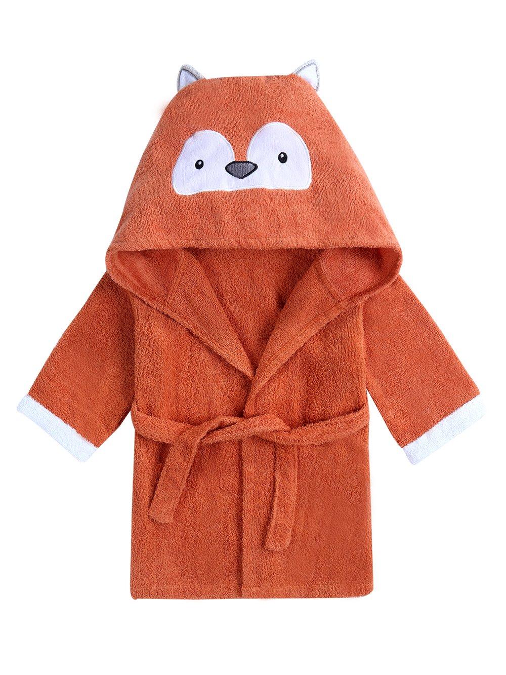 URBEAR Baby Hooded Bathrobe & Towel Bath Robe Shower Gift Present 12-36 Months, Fox M
