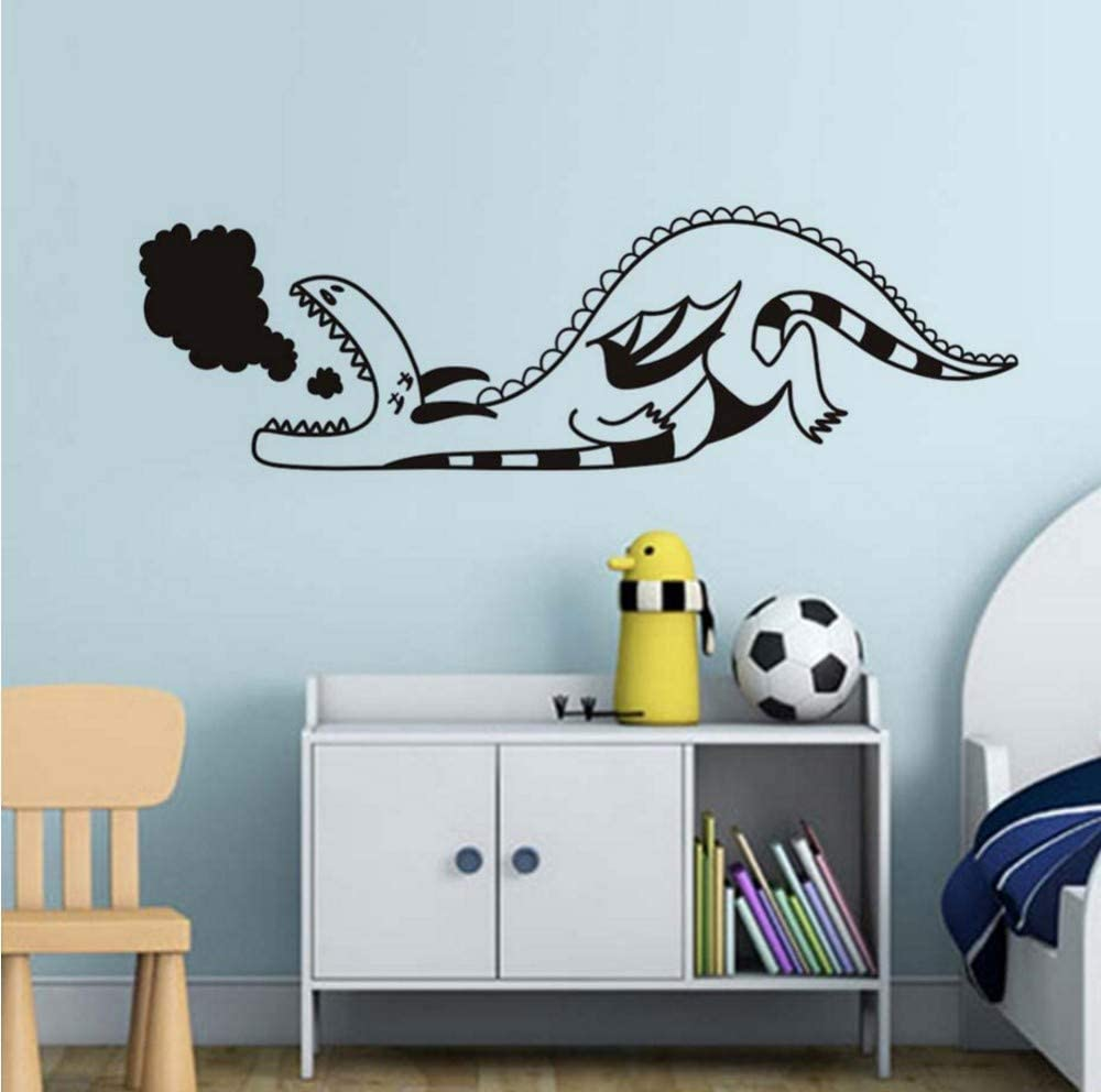 xmksd Cartoon Baby Dragon Wall Sticker for Kids Rooms Wall Decor Waterproof Wall Art Decals Wallpaper Home Decoration Accessories13641Cm