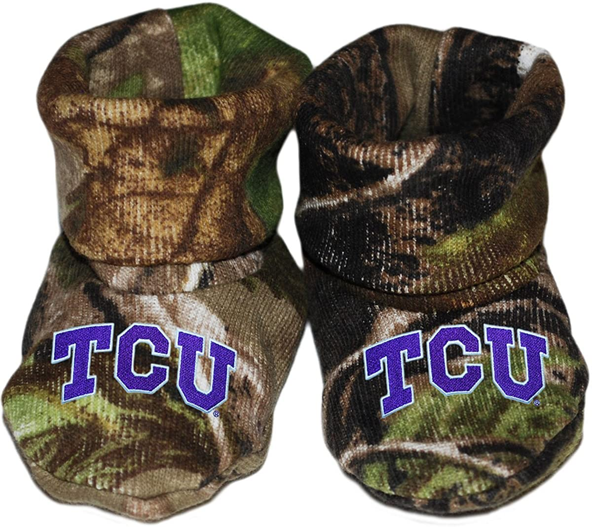 Texas Christian University TCU Newborn Baby Bootie Sock
