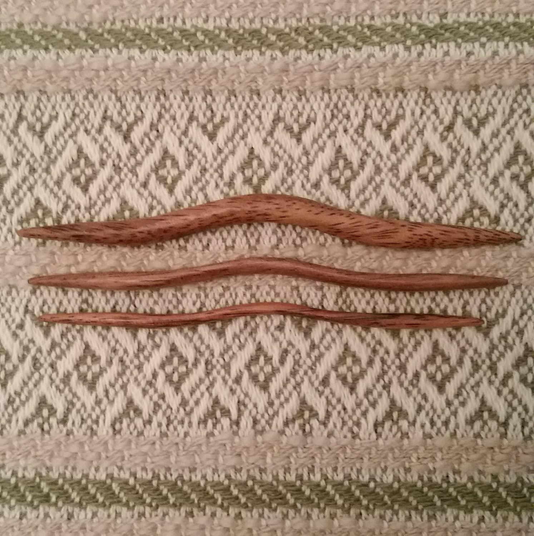 GrammasKnittedGifts ClickinStix East Indian Walnut Cable Needles