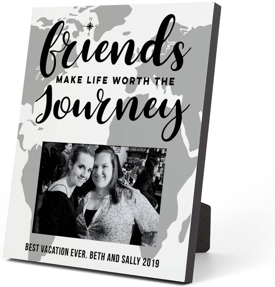 ChalkTalkSPORTS Personalized Photo Frame   Friends Journey Picture Frame   White