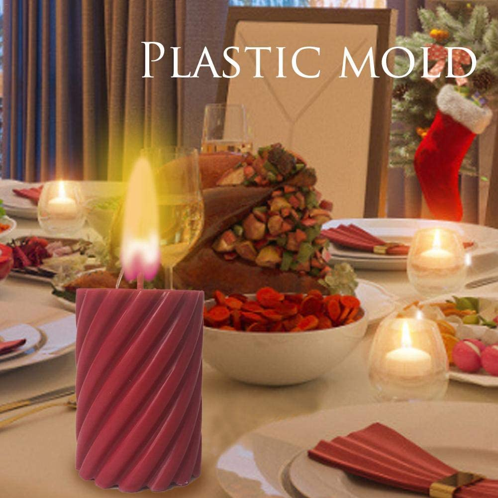 weemoment Handmade DIY Candle Molds, Candle Making Spiral Shape Candle Making Supplies advancement