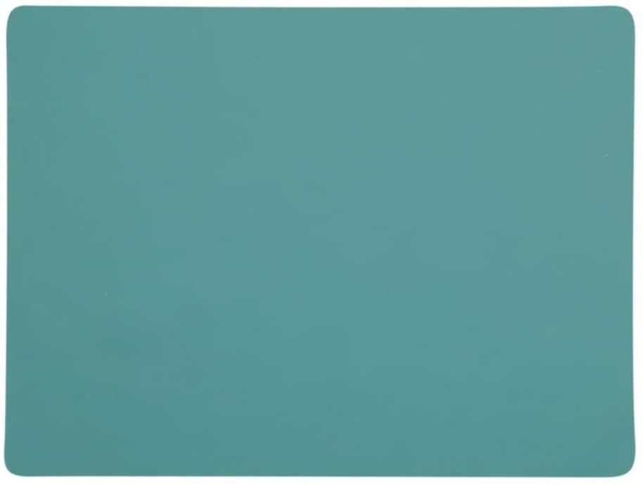 TIKY Silicone Placemats, Non-Slip, Heat-Resistant Washable Kids Table Mats, Pack of 4, 15.7 x 11.8 inch (Green)