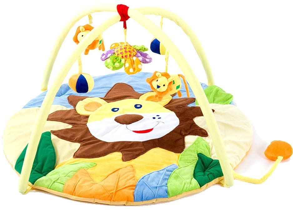 Froshine Baby playmat Gym, Soft Large Activity Gym with Colorful Stuffed Animals Toys for Newborn Infant with Mamas or Papas Interactive Game Blanket