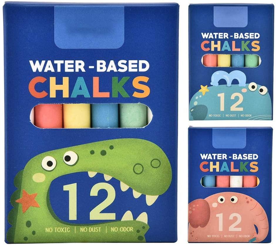 LetCart Chalk Colored,12pcs Non-Toxic Eco-Friendly Blackboard Washable Dustless Colored Chalk for Children(Crocodile)