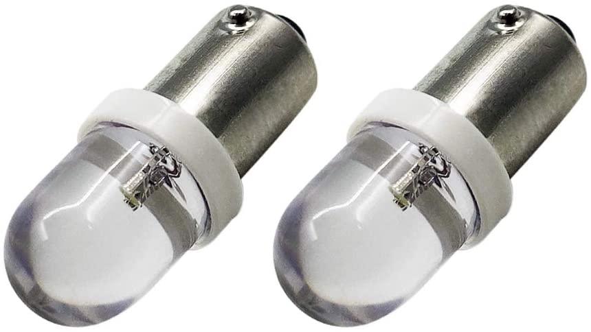 Ruiandsion 2pcs BA9S LED Bulbs White 6V 1895 1891 53 57 LED Bulb 47830 64111 3893 LED Light Bulbs for Car Interior Dome Map License Plate Glove Box Lights
