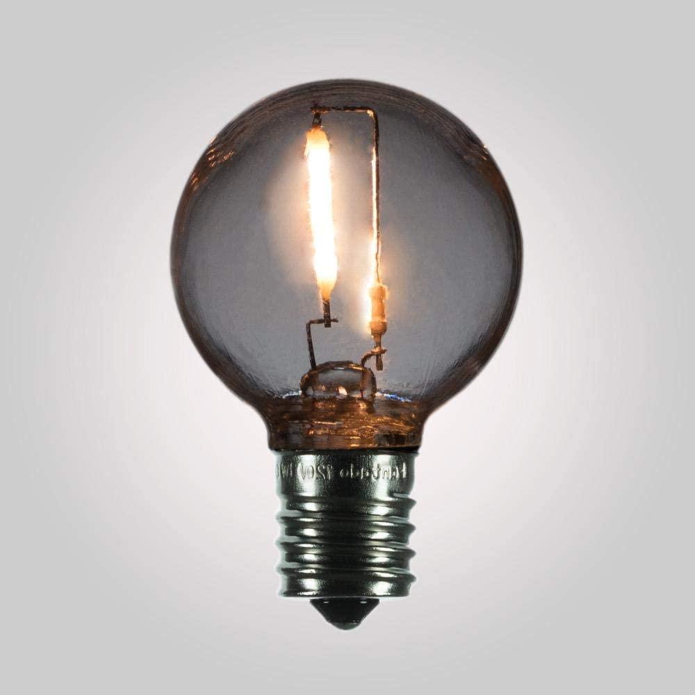 Fantado LED Filament G40 Globe Shatterproof Light Bulb, Dimmable, 1W, E17 Intermediate Base by PaperLanternStore