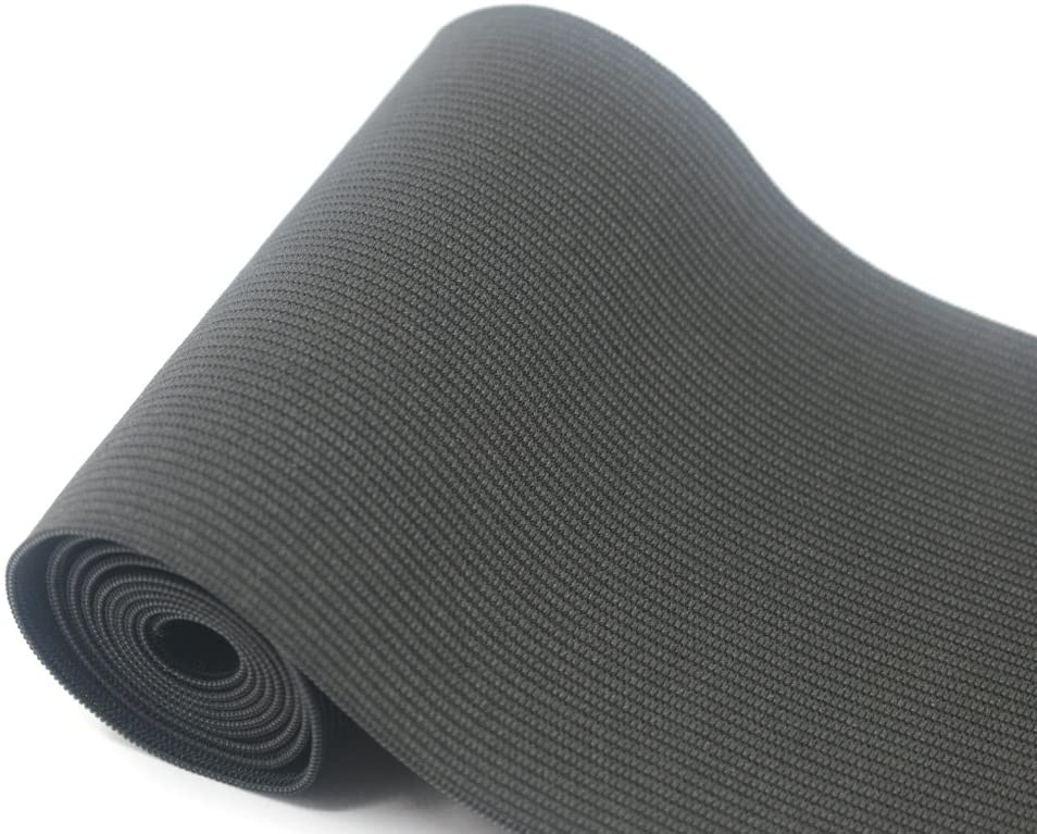 iCraft 4-Inch Wide by 2-Yard Black Knit Elastic 74080