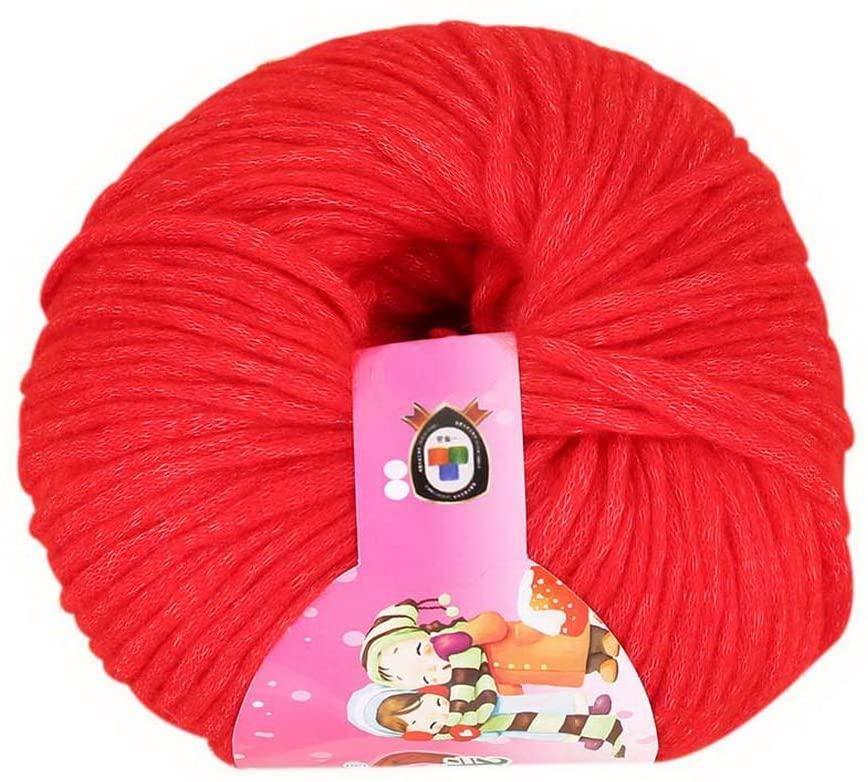 2 Scarf Yarn Skeins Woven Wool Yarn For Crochet & Knitting Hand-knitted Yarn Red