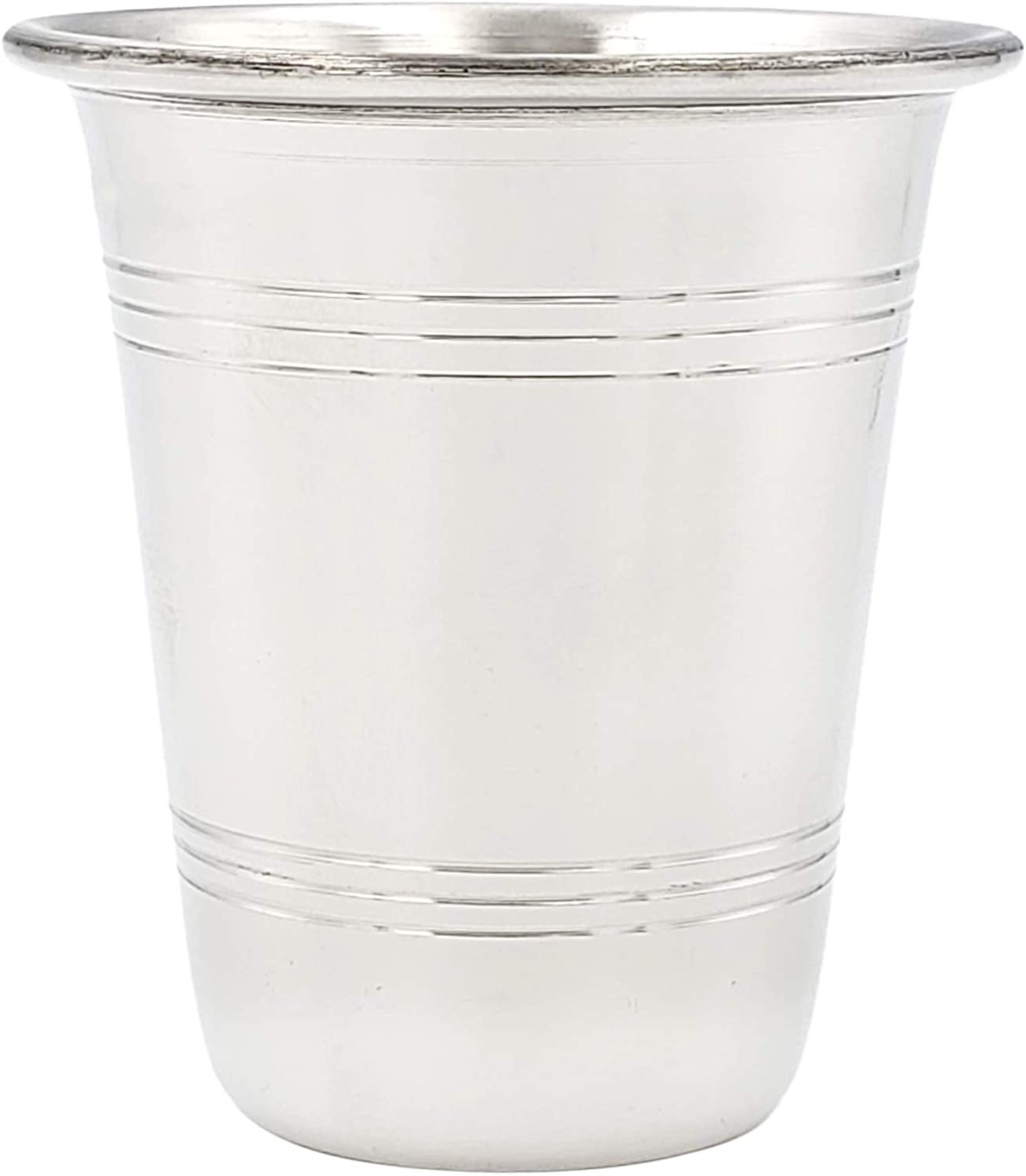 Kiddush Cup Stainless Steel, For Shabbos, Holidays, and Havdalah - Non Tarnish Judaica (Single)